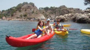 cayaking tour in sicily